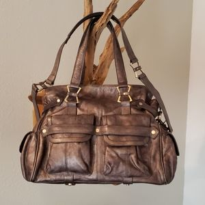 Junior Drake Megan taupe leather bag EUC